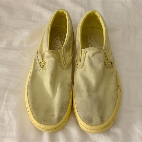 Vans Shoes   Slip Ons Pastel Yellow W9